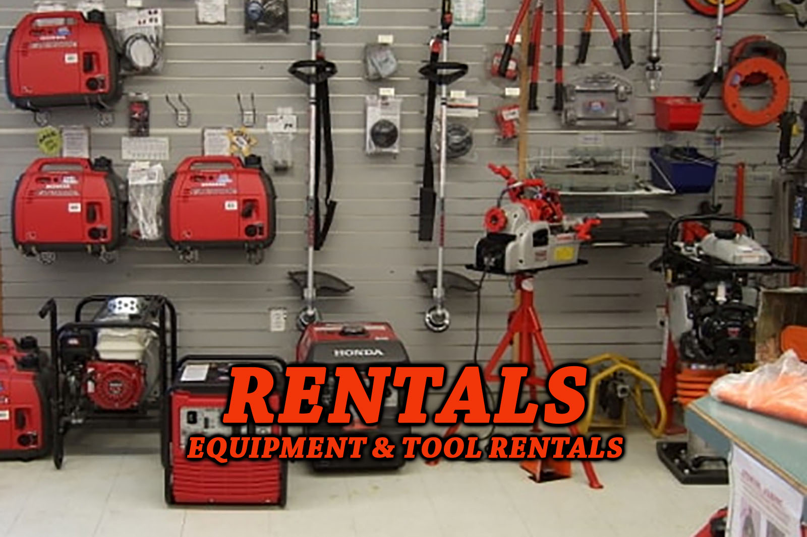 Equipment and Tool Rentals